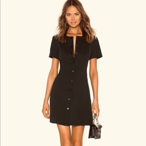 NWOT Theory Easy Snap-Front Shift Dress Black